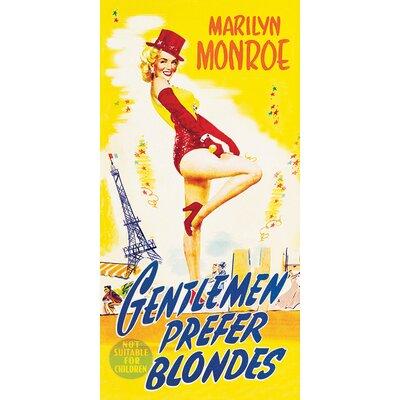 Art Group Marilyn Monroe Gentlemen Prefer Blondes Vintage Advertisement Canvas Wall Art