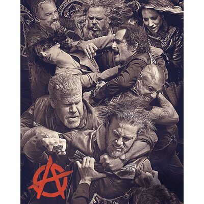 Art Group Sons of Anarchy - Fight Vintage Advertisement Canvas Wall Art
