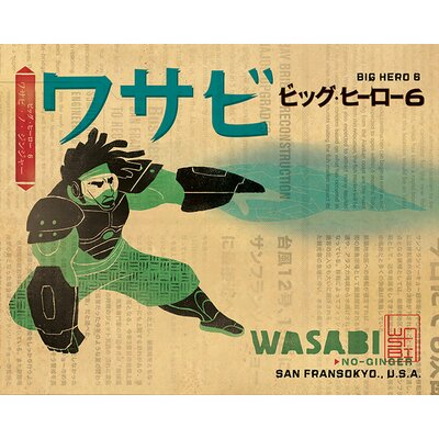 Art Group Big Hero 6 - Wasabi Vintage Advertisement Canvas Wall Art