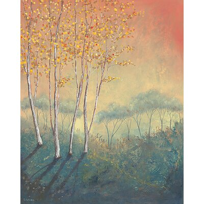 Art Group Silver Birch Tree In Autumn by Serena Sussex Canvas Wall Art