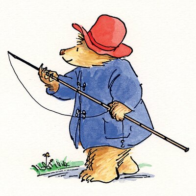 Art Group Paddington Bear Fishing Rod Canvas Wall Art