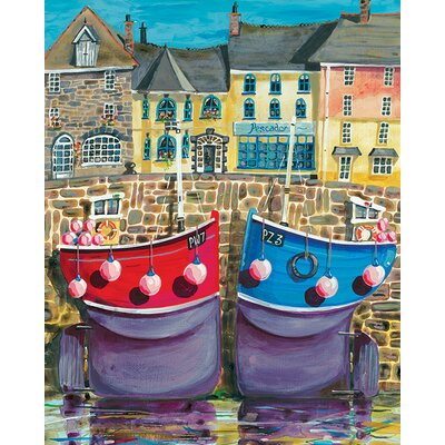 Art Group Padstow Boats by Jeremy Thompson Canvas Wall Art