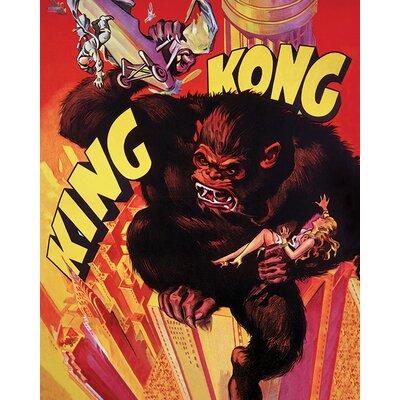Art Group King Kong Grab Vintage Advertisement Canvas Wall Art