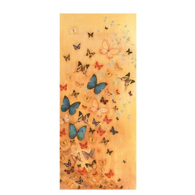 Art Group Butterflies on Warm Ochre by Lily Greenwood Art Print