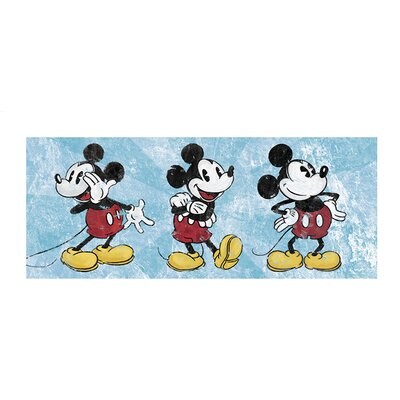 Art Group Mickey Mouse Squeaky Chic Triptych Vintage Advertisement