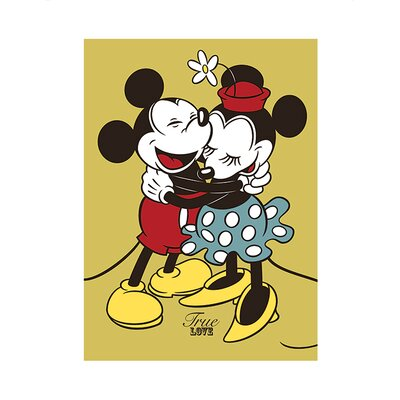Art Group Mickey and Minnie Mouse True Love Vintage Advertisement