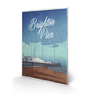 Art Group Brighton Pier by Adam Mcnaught Davis Graphic Art Plaque
