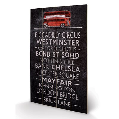 Art Group London Bus Blind by Barry Goodman Typography Plaque