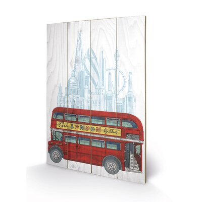 Art Group See London by Bus by Barry Goodman Graphic Art Plaque