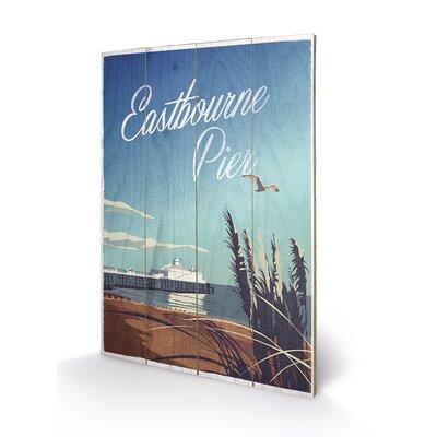 Art Group Eastbourne Pier by Adam Mcnaught Davis Graphic Art Plaque