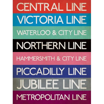 Art Group London Underground - Stations Typography Canvas Wall Art