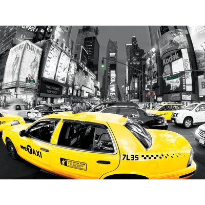 Art Group Rush Hour Times Square - Yellow Cabs Canvas Wall Art