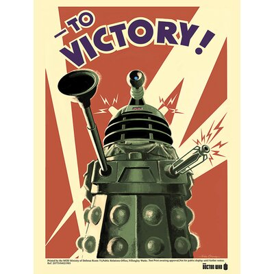 Art Group Doctor Who - Victory Vintage Advertisement Canvas Wall Art