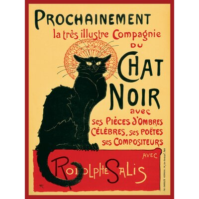 Art Group Chat Noir Vintage Advertisement Canvas Wall Art