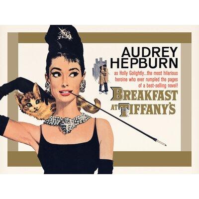 Art Group Audrey Hepburn - Breakfast at Tiffany'S Gold One-Sheet Vintage Advertisement Canvas Wall Art