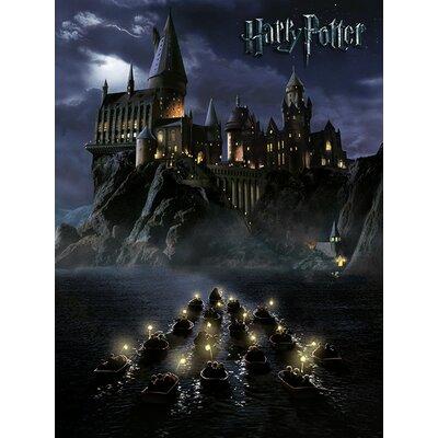 Art Group Harry Potter - Hogwarts School Vintage Advertisement Canvas Wall Art