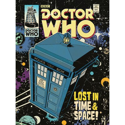 Art Group Doctor Who - Lost in Time and Space Vintage Advertisement Canvas Wall Art