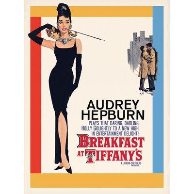 Art Group Audrey Hepburn - Breakfast at Tiffanys One Sheet Vintage Advertisement Canvas Wall Art