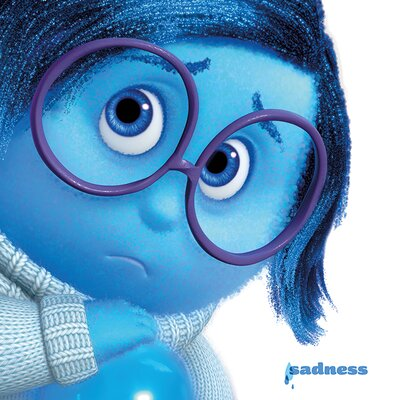 Art Group Inside Out - Sadness Vintage Advertisement Canvas Wall Art