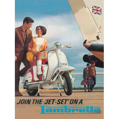 Art Group Lambretta Jet Set Vintage Advertisement Canvas Wall Art