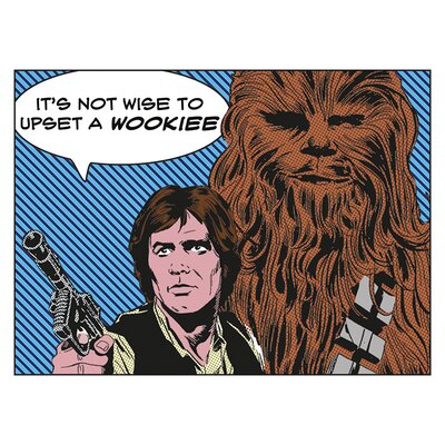 Art Group Star Wars - Its Not Wise to Upset a Wookiee Vintage Advertisement Canvas Wall Art