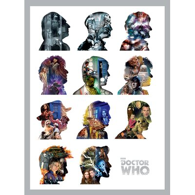 Art Group Doctor Who - Silhouettes Canvas Wall Art