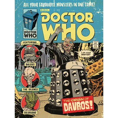 Art Group Doctor Who - The Origin of Davros Vintage Advertisement Canvas Wall Art