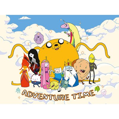 Art Group Adventure Time - Cloud Vintage Advertisement Canvas Wall Art