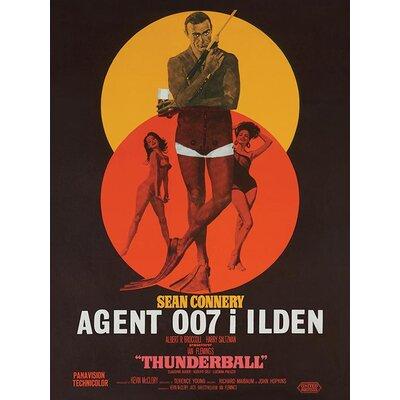 Art Group James Bond - Thunderball - DanishVintage Advertisement Canvas Wall Art