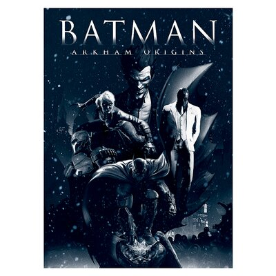Art Group Batman Arkham Origins - Montage Vintage Advertisement Canvas Wall Art