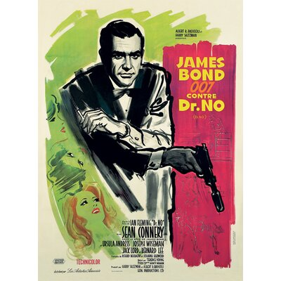 Art Group James Bond - Dr.No French Canvas Wall Art