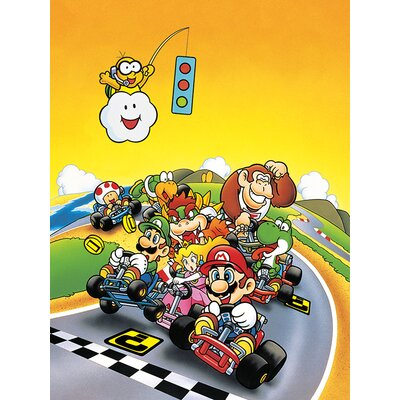 Art Group Super Mario Kart - Retro Canvas Wall Art