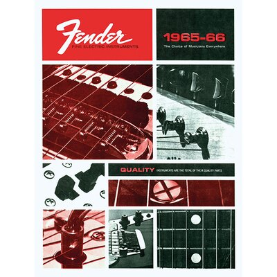 Art Group Fender - Fine Electric Instruments Vintage Advertisement Canvas Wall Art