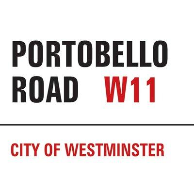 Art Group London - Portobello Road Typography Canvas Wall Art