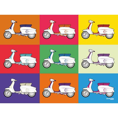 Art Group Lambretta Pop Vintage Advertisement Canvas Wall Art