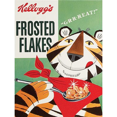 Art Group Vintage Kelloggs - Frosted Flakes Vintage Advertisement Canvas Wall Art