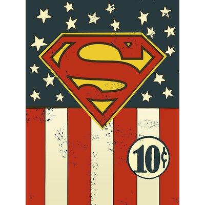 Art Group DC Comics - Superman Flag 10¢ Canvas Wall Art