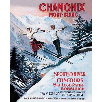 Art Group Chamonix Mont-Blanc Vintage Advertisement Canvas Wall Art