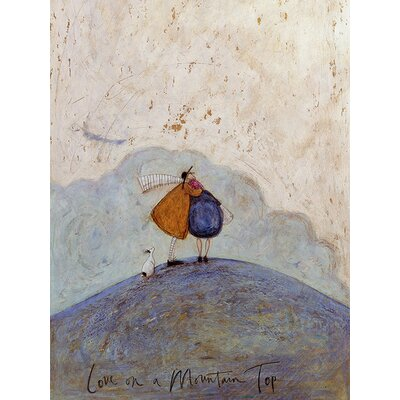 Art Group Sam Toft - Love on A Mountain Top Canvas Wall Art