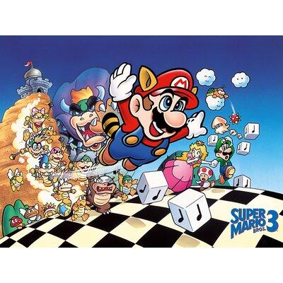 Art Group Super Mario Bros 3 Vintage Advertisement Canvas Wall Art
