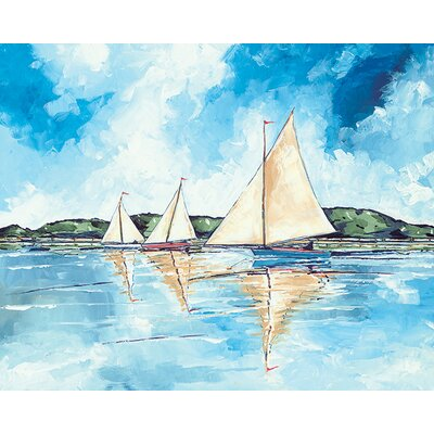 Art Group Stuart Roy - Three Boats Canvas Wall Art