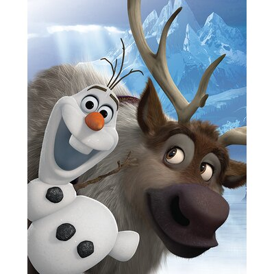 Art Group Frozen - Olaf and Sven Vintage Advertisement Canvas Wall Art