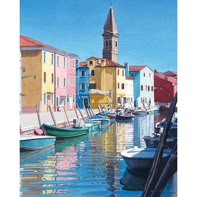 Art Group Margaret Heath - The Colours of Burano Canvas Wall Art