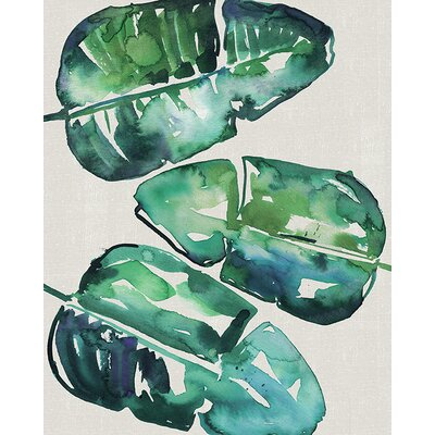 Art Group Summer Thornton - Banana Leaves Canvas Wall Art