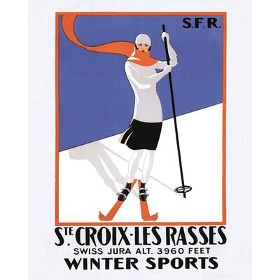 Art Group Ste. Croix-Les Rasses Anvas Vintage Advertisement Canvas Wall Art