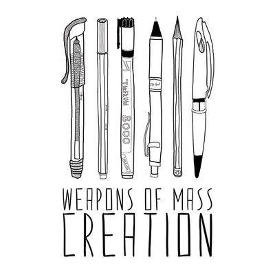 Art Group Bianca Green - Weapons of Mass Creation Canvas Wall Art