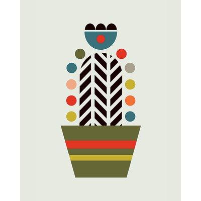 Art Group Little Design Haus - Herringbone Cactus Canvas Wall Art