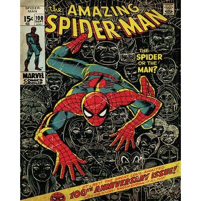 Art Group Spiderman - 100th Anniversary Vintage Advertisement Canvas Wall Art