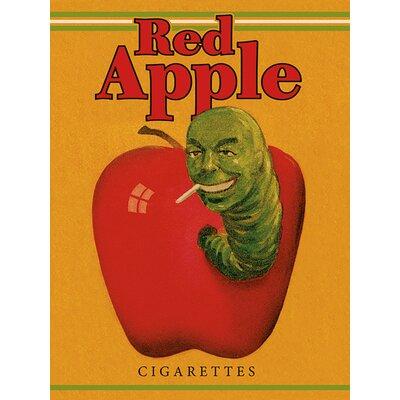 Art Group Pulp Fiction - Red Apple Cigarettes Vintage Advertisement Canvas Wall Art