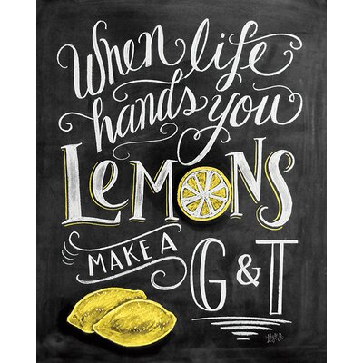 Art Group LiLy and Val - Lemons Typography Canvas Wall Art